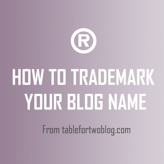 Trademarking Your Blog Name - Table for Two