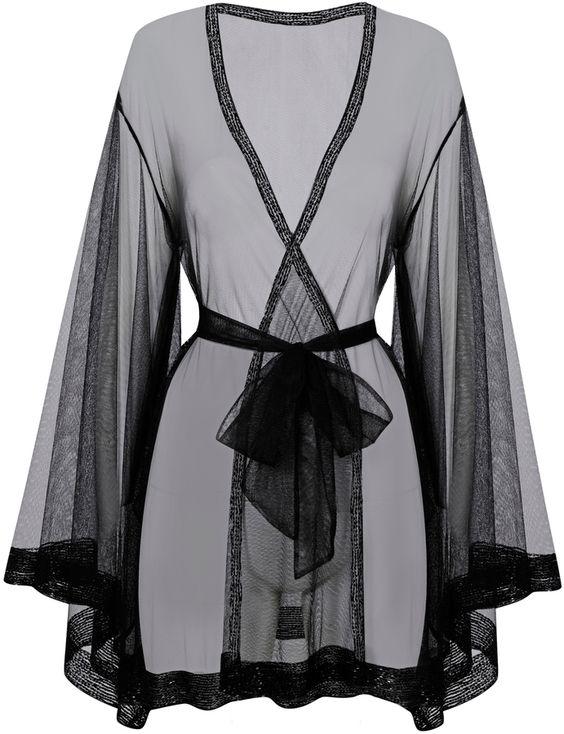 Agent Provocateur Di-Di Kimono Black