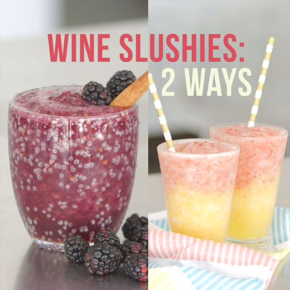 Wine slushies, Slushies and Wine on Pinterest