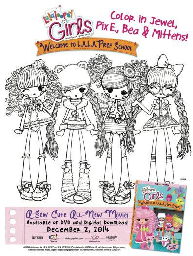 free printable lalaloopsy girls coloring page - Lalaloopsy Coloring Pages Mittens