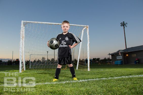Jayden the Soccer Star. The BIG Picture children's photography.