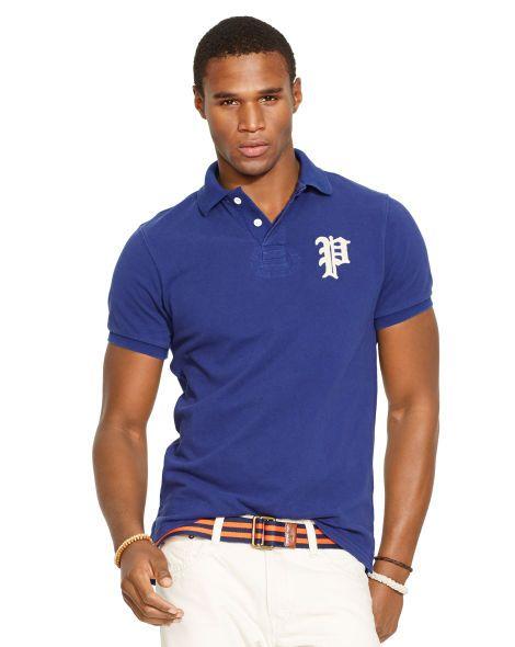 Custom-Fit Gothic \u0026quot;P\u0026quot; Polo - Polo Ralph Lauren Custom-Fit -