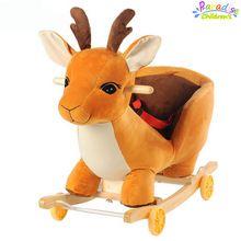 1 / Set de dupla cavalo de balanço do bebê música brinquedos de carrinho de carrinho carrinho de bebê(China (Mainland))