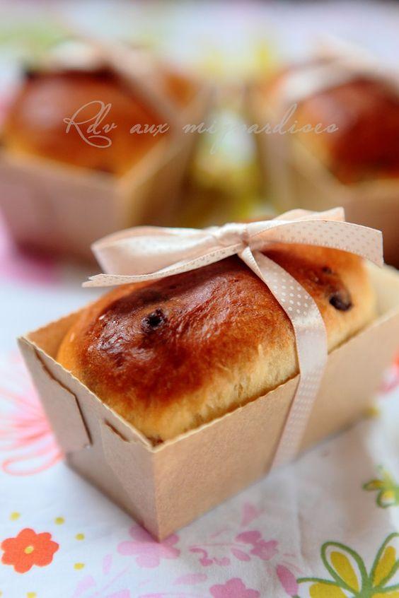 Petits pains viennois aux pépites de chocolat