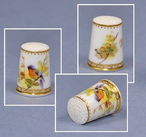 HAND-PAINTED-ROYAL-WORCESTER-of-19th-THIMBLE / Oct 08, 2014 / GBP 103.88