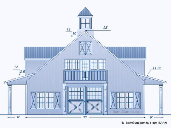 Horse barn plans with living quarters 5 stalls 3 for Barn designs with living quarters