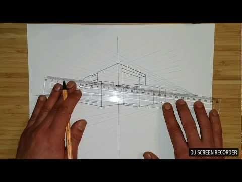 Apprendre à Dessiner Maison Moderne En Perspective