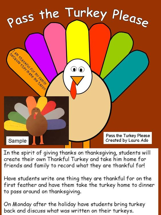 Fun interactive craftivity for students to create and bring home to have their family write about what they are thankful for.