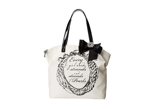 My Flat In London Pearl Zip Tote Natural/Black - Zappos.com Free Shipping BOTH Ways