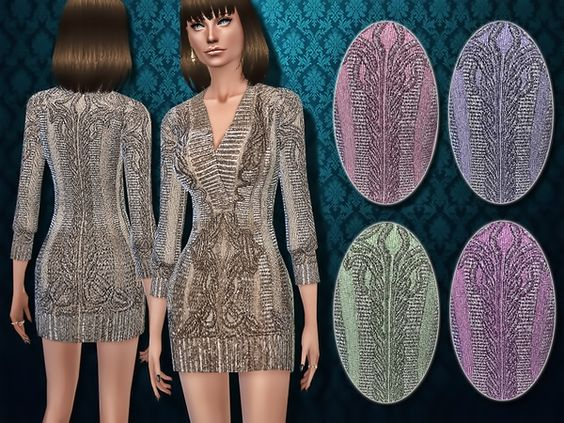 Harmonia's Deco-inspired Metallic Sweater Dress