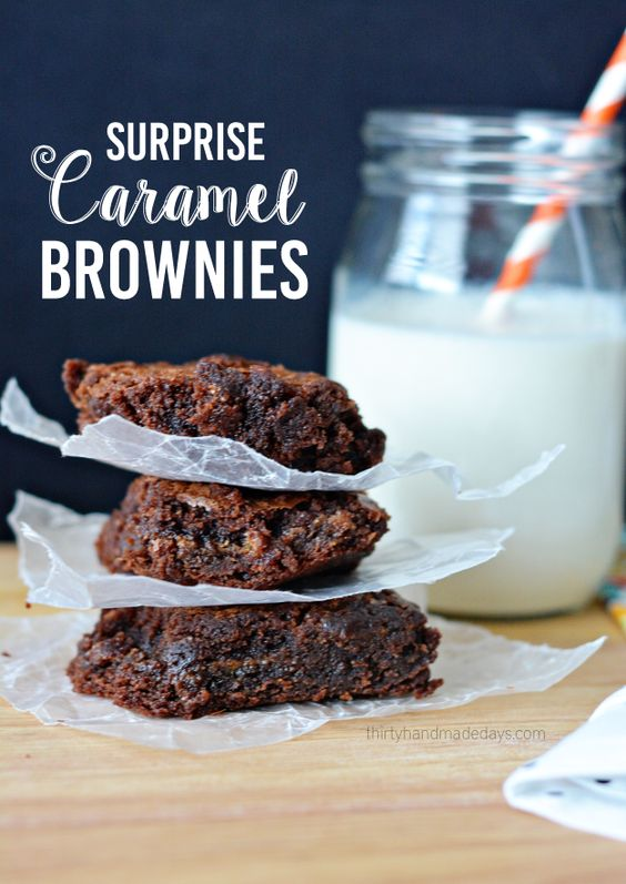 Brownies au caramel, Caramel and Brownies on Pinterest