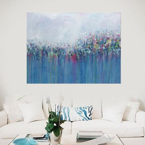 Abstract Painting Abstract Acrylic Canvas Modern by MhariArtStudio