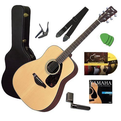 Yamaha Fg700s Acoustic Guitar Bundle Including Hard Case Strap Strings Stringwinder Picks Capo And Dvd By Yam Yamaha Guitar Yamaha Acoustic Guitar Guitar