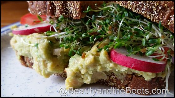 Vegan Monday- 3 Ingredient Chickpea Mash  #Vegan #VeganMonday BeautyandtheBeets.com
