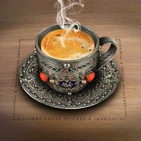 قهوة الصباح في فنجان جزائري تقليدي مصنوع من الفضة والمرجان من تقاليد منطقة القبائل Morning With Algerian Coffee الجزائر تونس المغر Food Tableware Patties