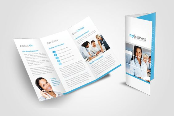 BiFold Corporate Brochure-V56 by Template Shop on @creativemarket - brochure template word