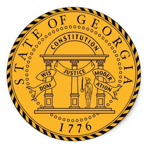 Georgia State Seal Zazzle Com Georgia State Georgia Elections Activities