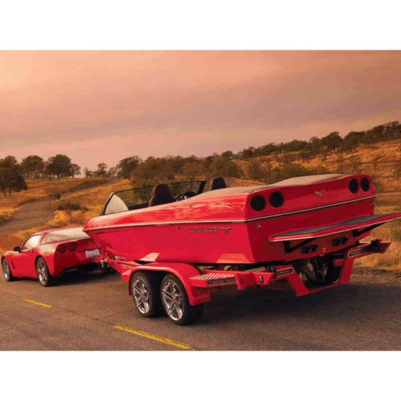 Custom SeaDoo Matching the Corvette with Custom Rims on the Trailer!!!!! Fricken NICCCCCE!!! Luvvv it !!