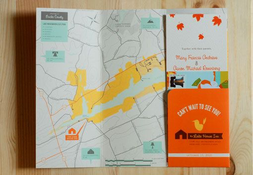 brochure as invite -- and the cutest brochure ever at that