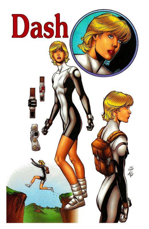 New Men Dash Comic Books New Man Sketches
