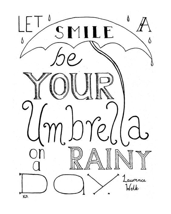Quote Art Print, Happiness in Life Print, Happiness Print, Rainy Day, Laurence Welk Quote, Rainy Day Print, Rain Quote Print,. $18.50, via Etsy.