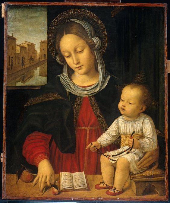 Ambrogio da Fossano Bergognone (1453-1523). Madonna col Bambino. Rijksmuseum Amsterdam: