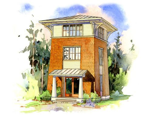 The Alder Tower One Of Many Well Done Designs Tower House Small House Design Small House