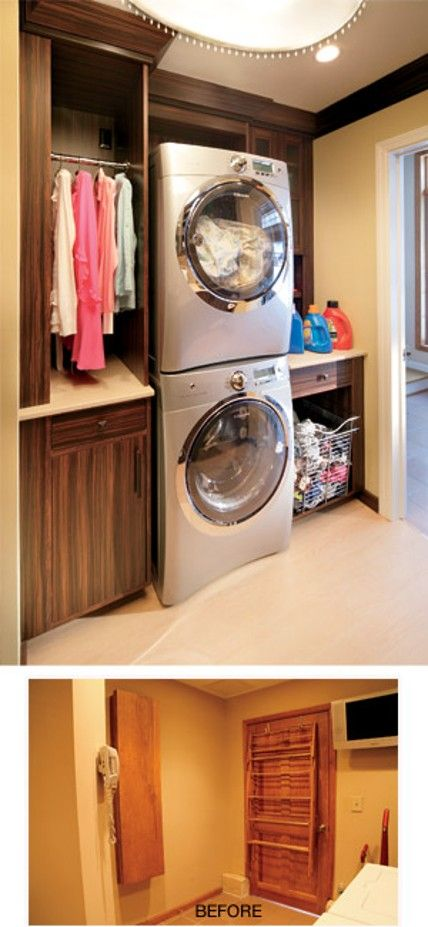 Washer And Dryer In The Closet Amazing I Need This So Bad My Dream Home Pinterest