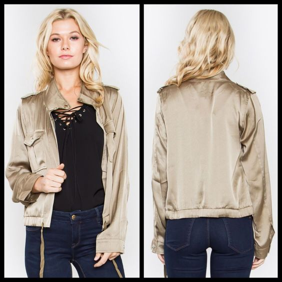 Kim Silky Jacket via POSHED APPAREL. Click on the image to see more!