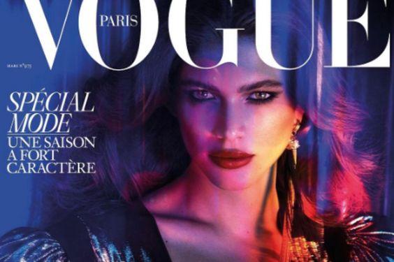 De cover van Vogue Paris, die in maart uitkomt.: