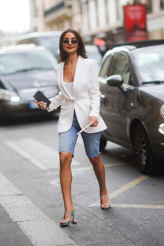 A volta da bermuda jeans…