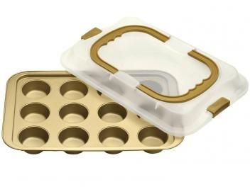 Forma para Muffins Retangular - Bialetti Dolce Chef