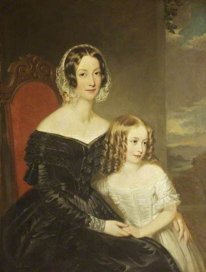"""""""Anne Shaw, Wife of John George Shaw and Daughter of John Cox of Bristol"""", 1842-1854, by James Curnock (British, 1812-1862).:"""