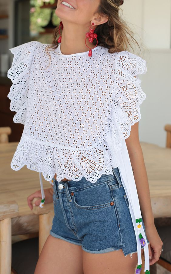 48 Lace Blouses To Rock This Year outfit fashion casualoutfit fashiontrends