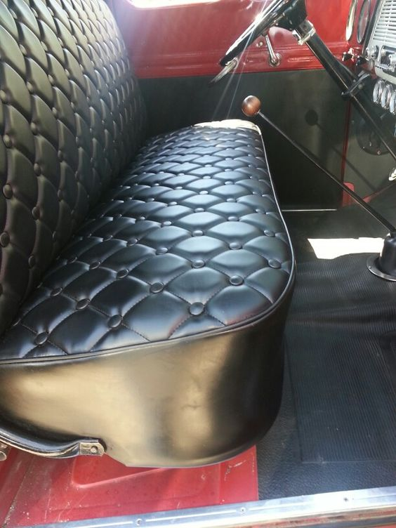 My friend got seat back from upholster. 1952 ford truck