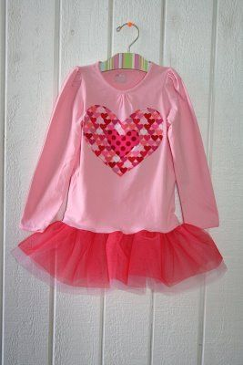 Tutu T-shirt Tute!: Kids Clothes, Sewing Projects, Sewing Pattern, Valentine Shirt Ideas, Girls Valentines, Valentine Tutu, Valentines Tutu, Sewing Kids