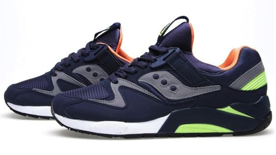 Saucony Grid 9000 - Navy / Citron