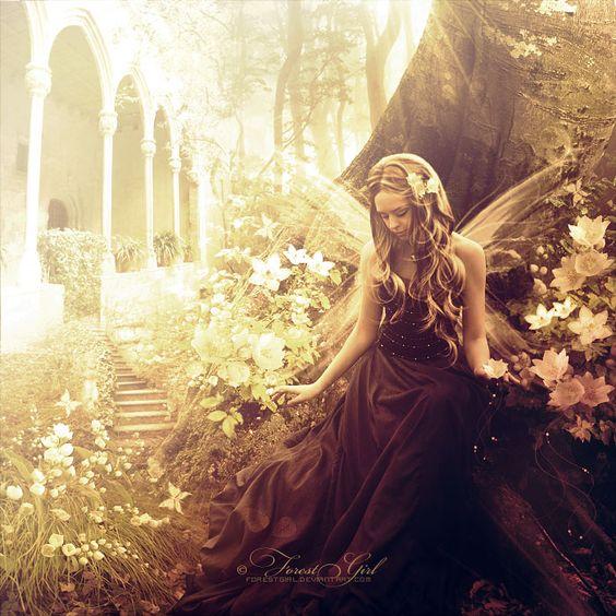 red garden fairy