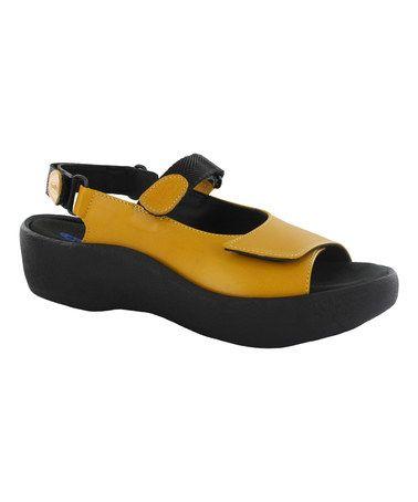 Look at this #zulilyfind! Papaya Leather Jewel Sandal #zulilyfinds