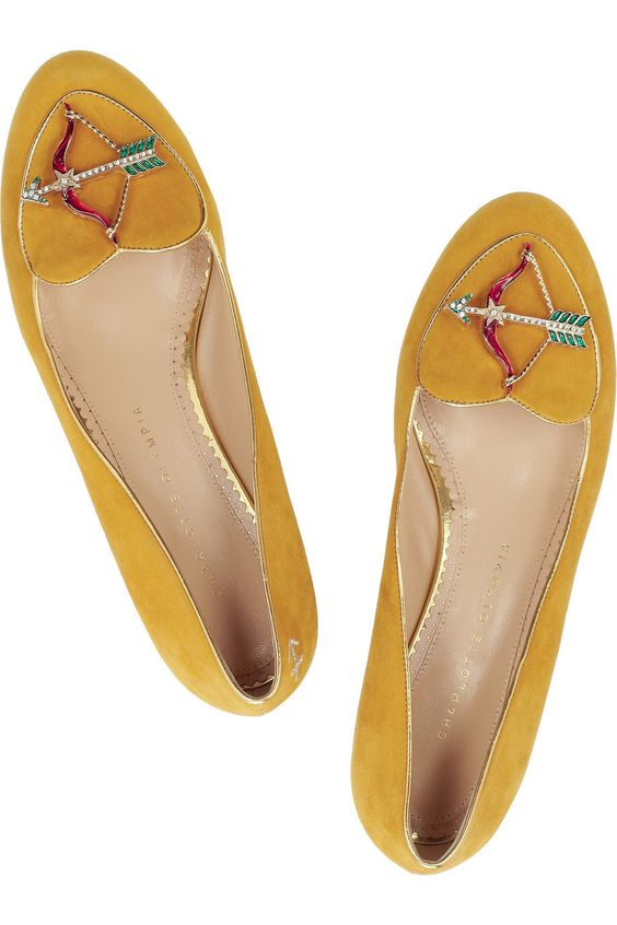Sagittarius suede slippers