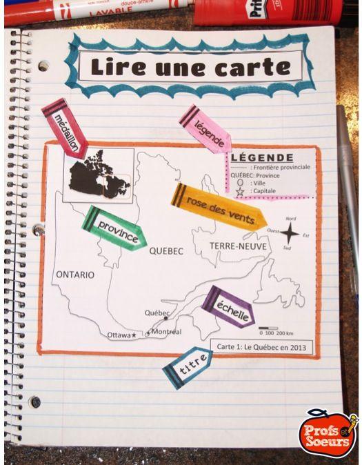 Comment lire une carte géographique? Cahier interactif