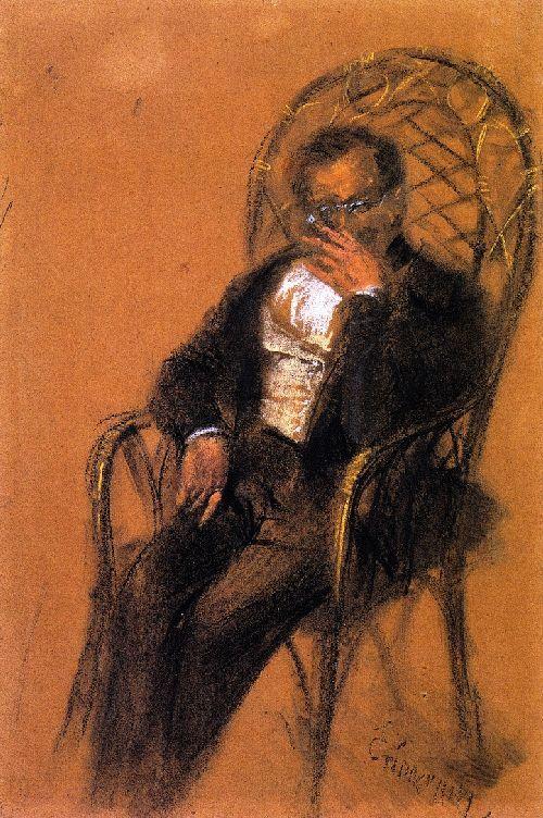 Man with Cigar by Adolph von Menzel
