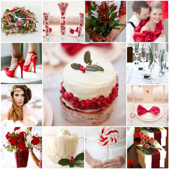 Decorating for Christmas wedding ideas