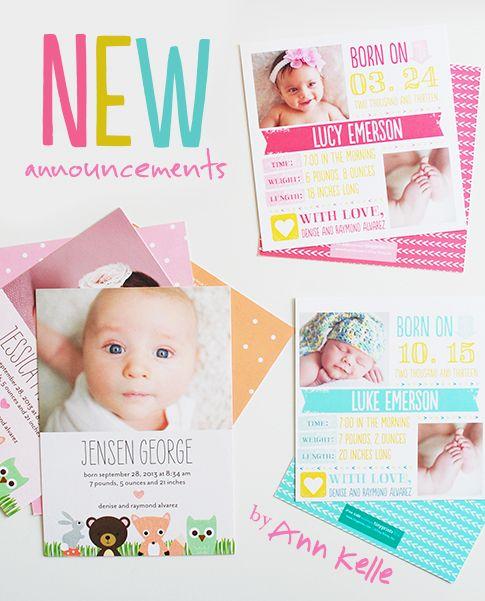 ann kelle for tiny prints birth announcements – Tiny Prints Birth Announcement