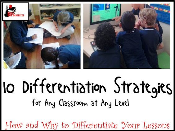 10 Differentiation Strategies for any classroom at any level. Differentiation allows teachers to give students what they need all the time. Try these strategies and tips from Raki's Rad Resources.