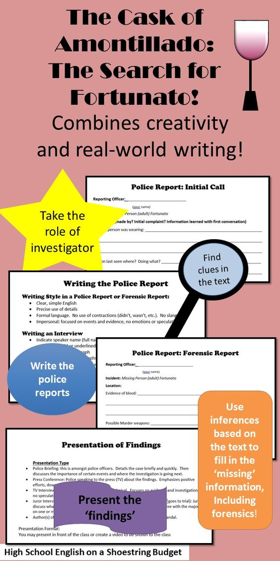 Teaching Literary Elements Plot \ Setting - forensic report