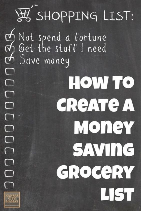 How to Create a Money Saving Grocery List