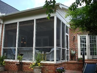 Shed roof screened porches and sheds on pinterest Shed with screened porch