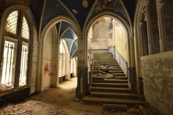 Château de Noisy - Escadaria