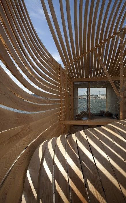 Loving the light shadow design bedrooms architecture for Wooden hotel design